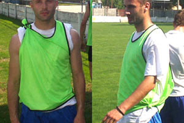 V kádri Spartaka sa objavila dvo- jica zo Srbska - Marko Igjatovič (vľavo) a Nenad Šimič.