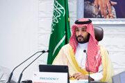 Saudskoarabský korunný princ Muhammad bin Salmán na prvom fóre o klimatických zmenách v krajine.