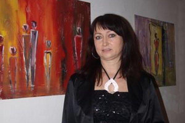 Mária Šefferová vytvorila novú techniku - maľbu na sadrový podklad.