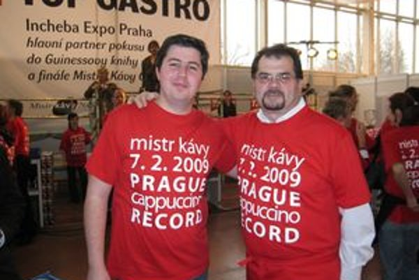 Michal Fajín (vľavo) spolu s Ettore Diana na súťaži v Prahe.