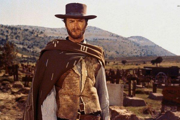 Clint Eastwood vo filme dobrý, zlý a škaredý.