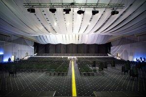 Pohľad z pódia veľkej sály Incheby, ktorá prešla veľkými úpravami.
