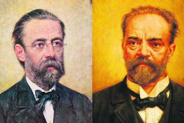 Bedřich Smetana a Antonín Dvořák. Mladý Smetana bol otvorený a spoločenský. Mal dosť veľkú osobnú charizmu, dokázal pútavo zabávať spoločnosť aj ženy. Mal však aj isté zásady, svoje postoje dokázal nekompromisne brániť, čím si narobil nepriateľov. Dvořák