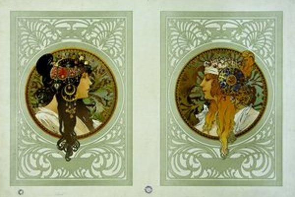 Alfons Mucha: Byzantské hlavy, 1897.