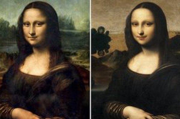 Mona Lisa v Louvri (vľavo) a Isleworthská Mona Lisa, ktorá by podľa poslednej analýzy tiež mala byť dielom Leonarda da Vinciho.