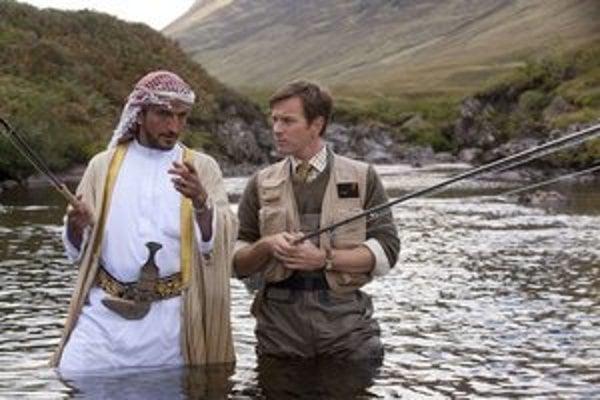 Lososy v Jemene, Ewan McGregor vpravo.