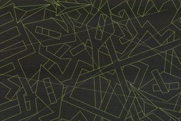 Mária Balážová: Chaos G1 – Kríž. Z výstavy PF 2012 pre Kolomana Sokola.