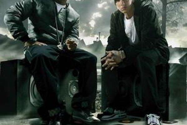 Eminem (vpravo) a jeho kolega.