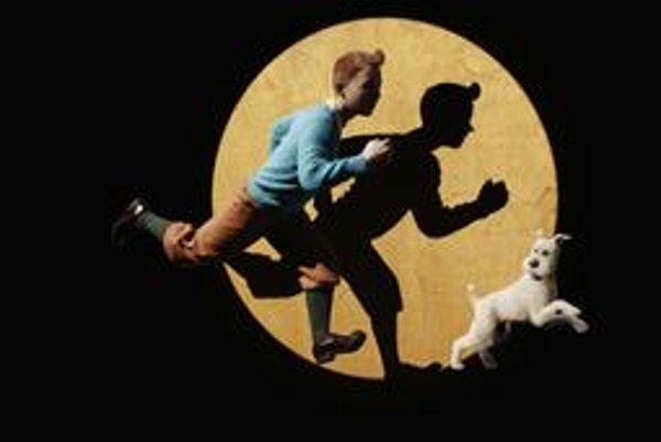 Tintin so svojím neodmysliteľným psom.