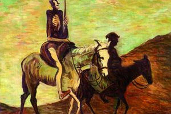 Don Quijote a Sancho Panza z roku 1940.
