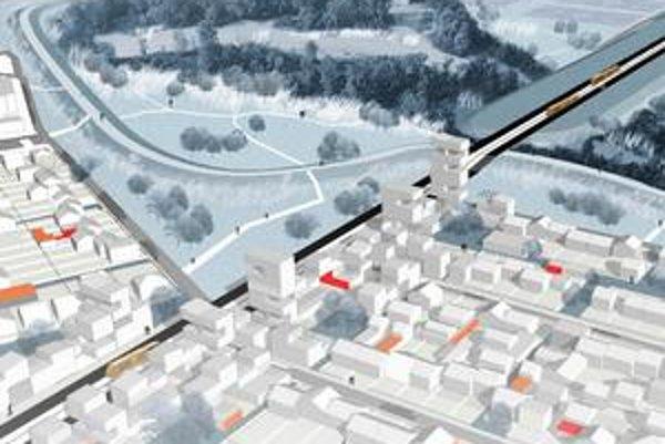 Secchi a Viganová si Paríž predstavujú ako priepustné mesto – blahobyt do chudobných štvrtí prinesú električky (hore). Antoine Grumbach chce pre Paríž morský prístav, Roland Castro zase zelené mrakodrapy (nižšie v článku).