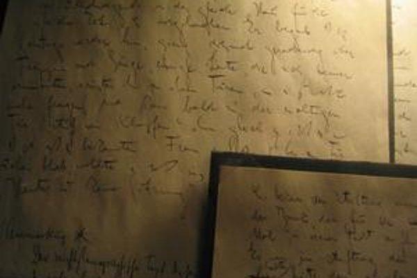 Takto vyzerá rukopis Franza Kafku.