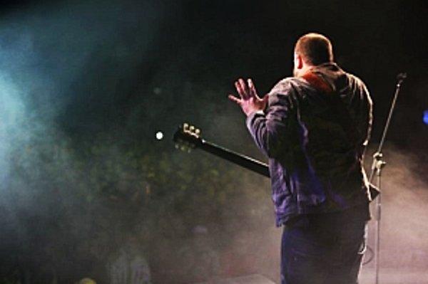 Tásler počas festivalu Rádio Expres Fest.