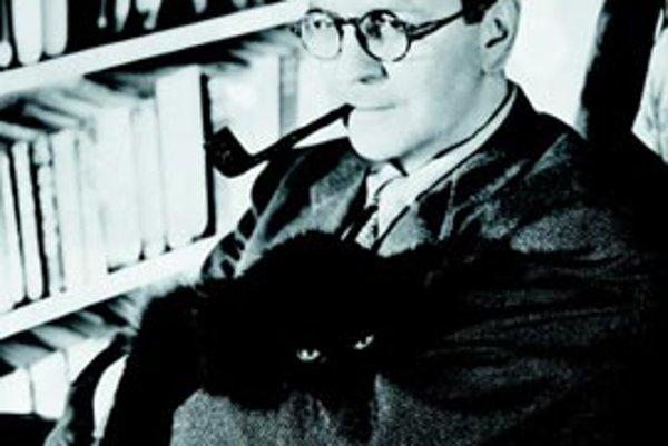 Raymond Chandler so svojím kocúrom a fajkou. Táto zrejme najznámejšia Chandlerova fotografia ho predstavuje ako prototyp spisovateľa, sediaceho medzi knihami a premýšľajúceho nad tým, čo ďalšie napíše.