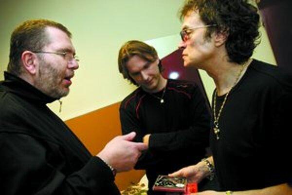 Richard Müller a Glenn Hughes v zákulisí