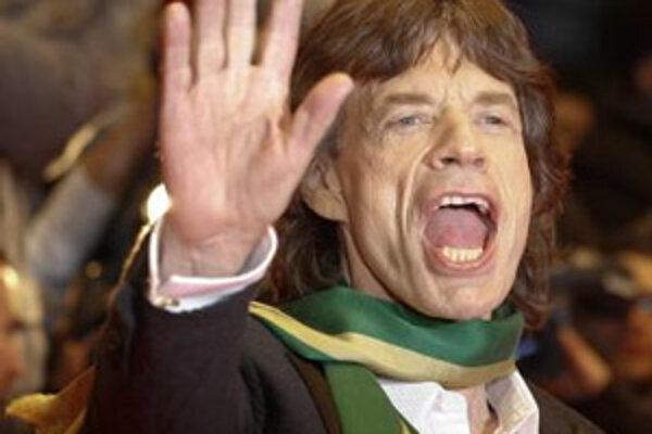 Mick Jagger z Rolling Stones prichádza na otvorenie MFF Berlinare 7. februára 2008 v Berlíne.