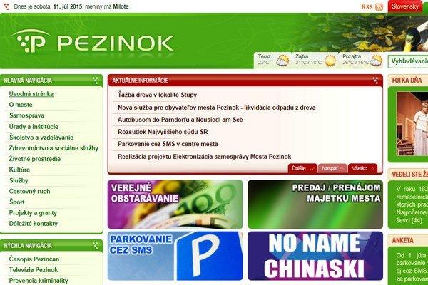 Obyvatelia Pezinka by mali  administratívu vybaviť cez internet.