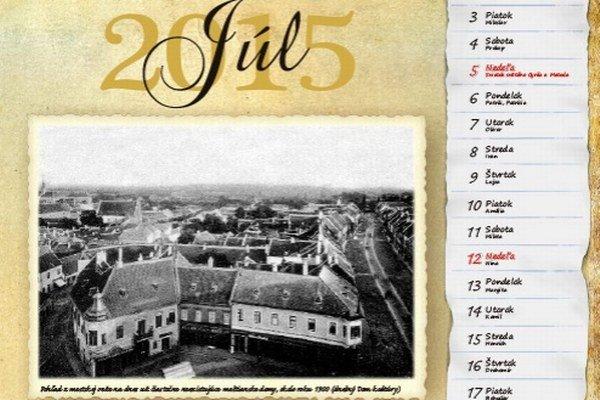 Kalendár obsahuje 25 unikátnych, v množstve prípadov ešte nepublikovaných snímok.