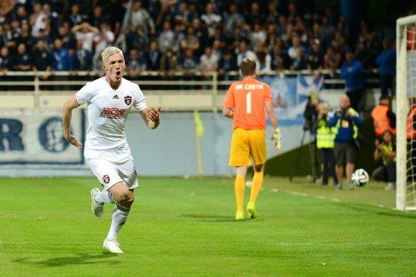 Jediný gól Trnavčanov zaznamenal Ján Vlasko, ktorý bude pre karty v odvete chýbať.