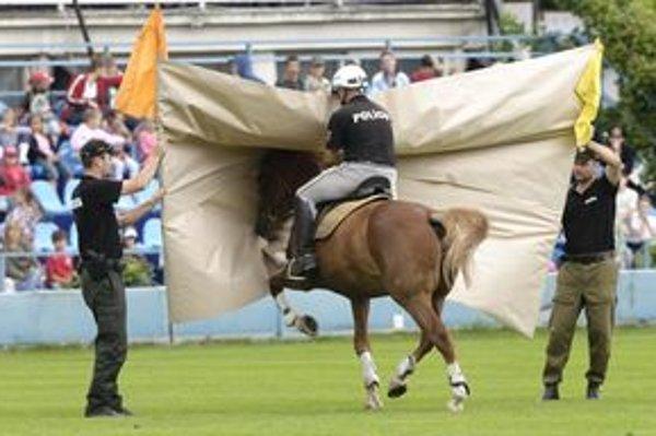 Na trnavskom Dni polície sa predstavila aj jazdná polícia s koňmi.