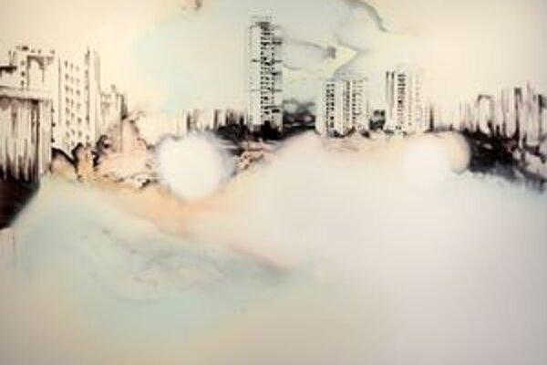 Deluge II. Veľkoformátové obrazy Lucie Tallovej fascinujú neobvyklým podaním moderného urbánneho priestoru.