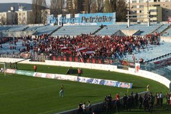Sektor fanúšikov Spartaka.