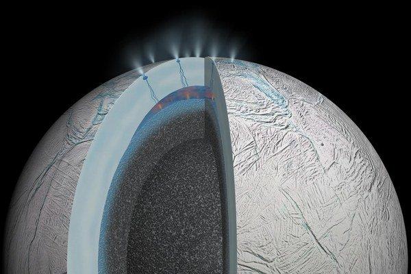 Povrch a jadro mesiaca nie sú pevne spojené.