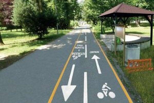 Nápisy majú zvýšiť prehľadnosť pre cyklistov a chodcov.