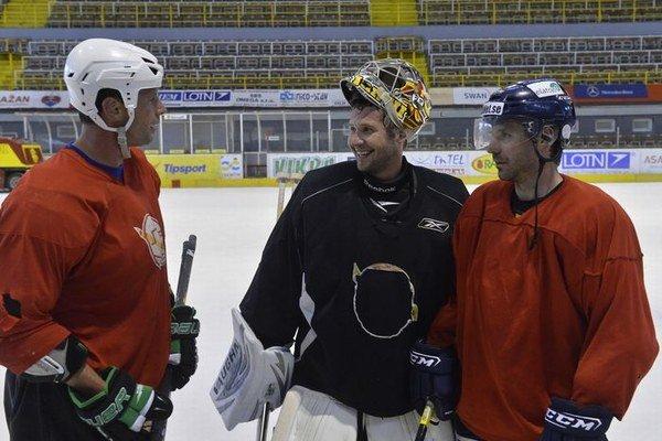Richard Lintner, Ján Lašák a Richard Pavlikovský na tréningu Trenčína.