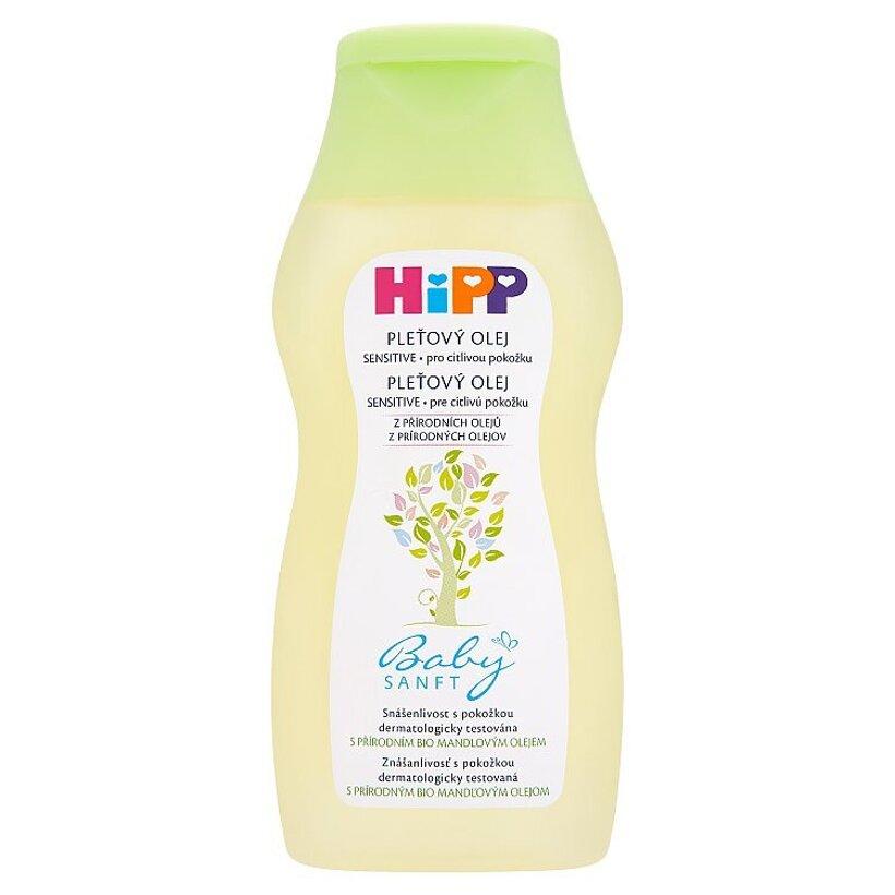 HiPP Babysanft Pleťový olej s prírodným bio mandľovým olejom pre citlivú pokožku 200 ml