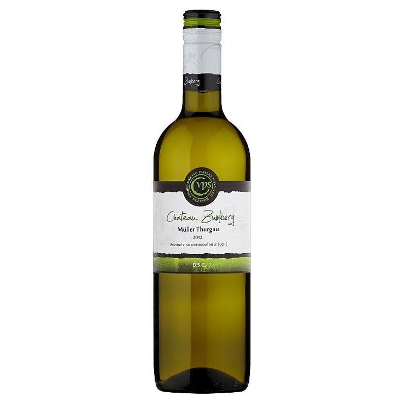 VPS Chateau Zumberg Müller thurgau akostné víno odrodové biele suché 0,75 l