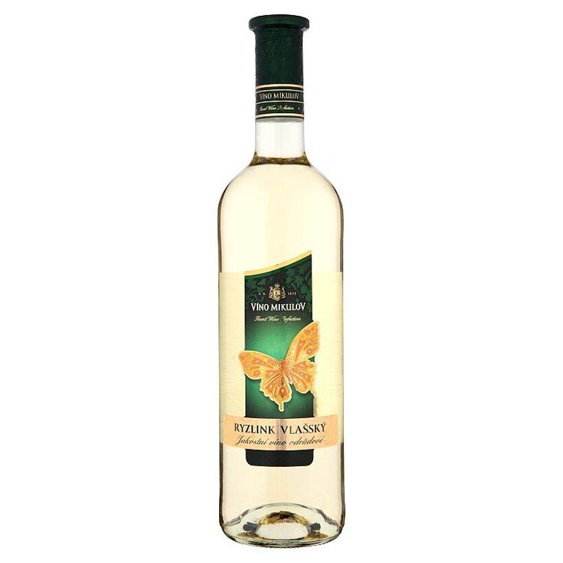 Víno Mikulov Ryzlink vlašský víno biele suché 0,75 l