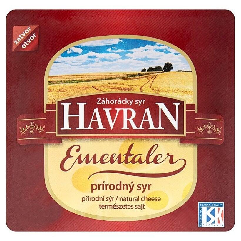 Záhorácky syr Havran Ementaler prírodný syr plátky 100 g