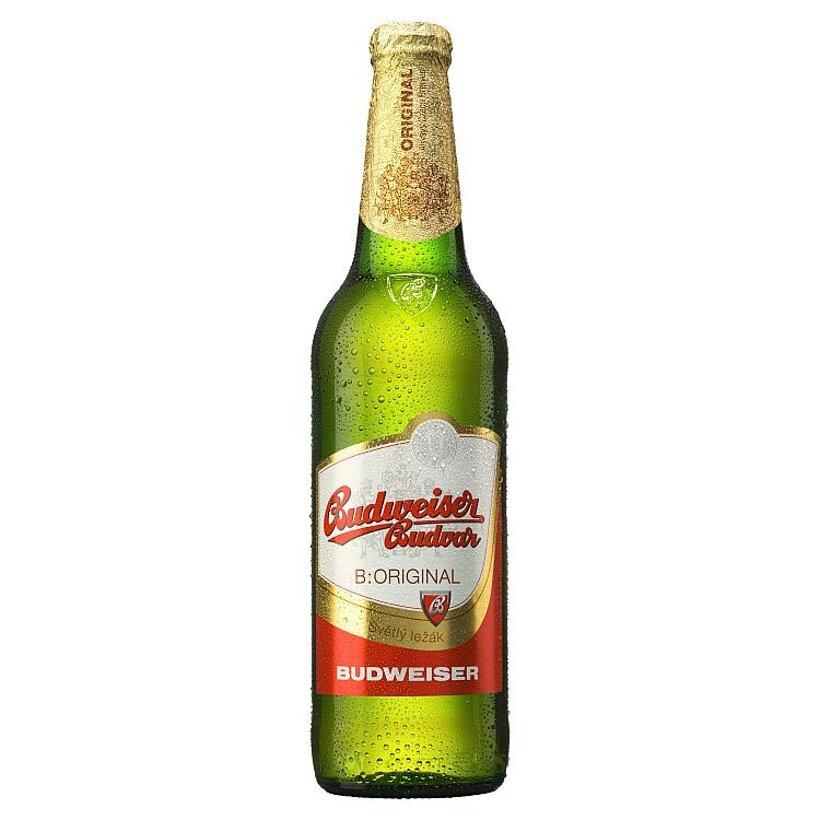 Budweiser Budvar B: Original pivo svetlý ležiak 0,5 l