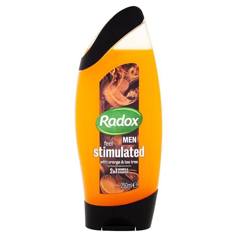 Radox Men Feel stimulated 2v1 pánsky sprchovací gél a šampón 250 ml
