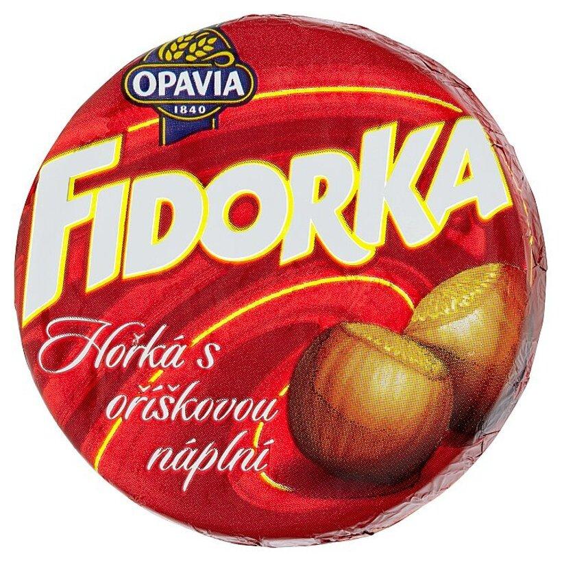Opavia Fidorka Plnená oblátka s lieskovoorieškovou náplňou celomáčaná v horkej čokoláde 30 g