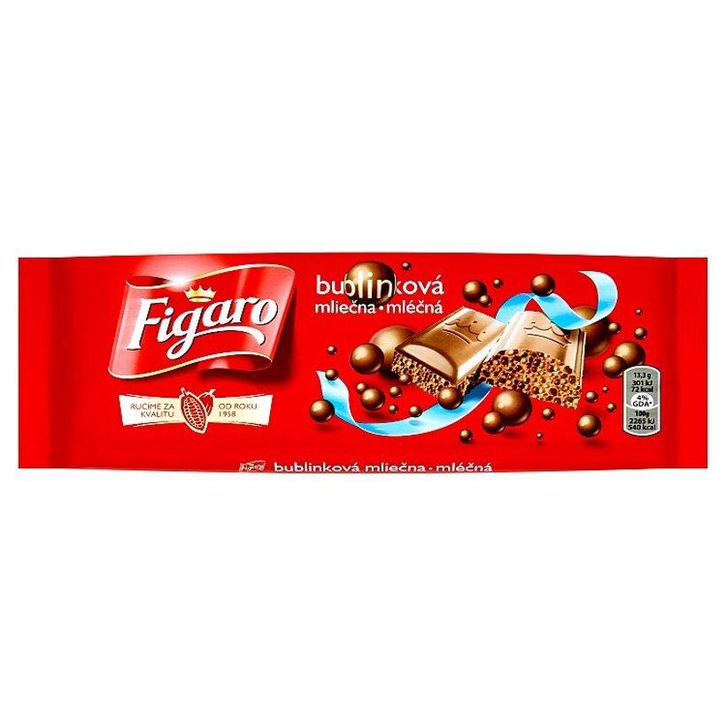 Figaro Bublinková mliečna čokoláda 80 g