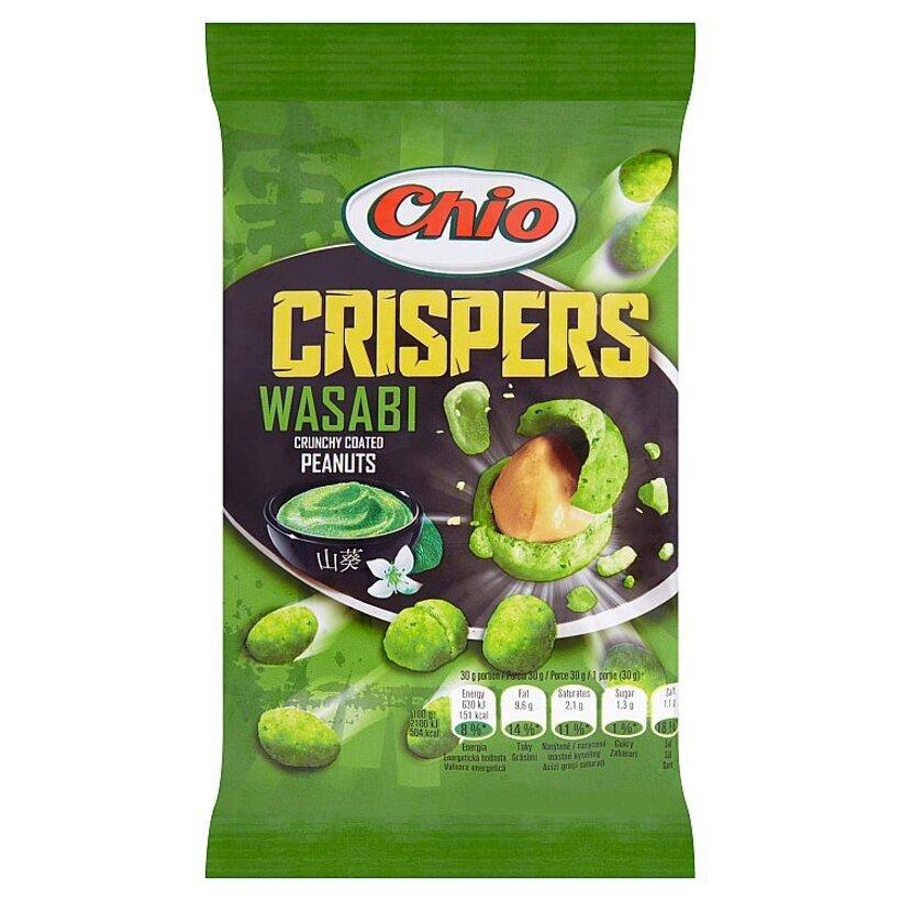 Chio Crispers Wasabi arašidy lúpané pražené obalené v cestíčku s príchuťou wasabi 65 g