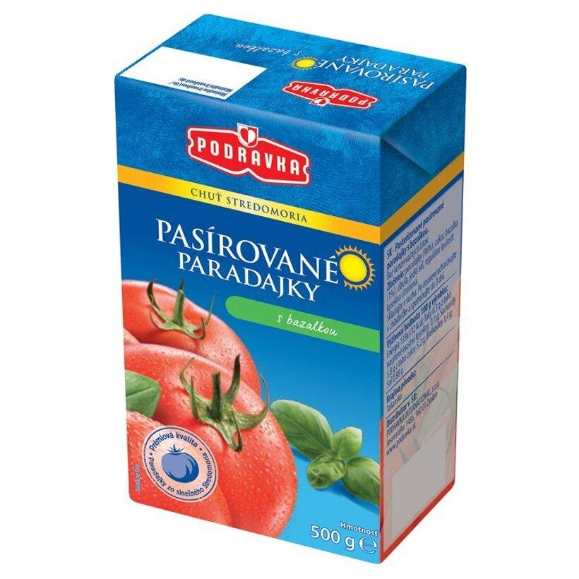 Podravka Pasírované paradajky s bazalkou 500 g