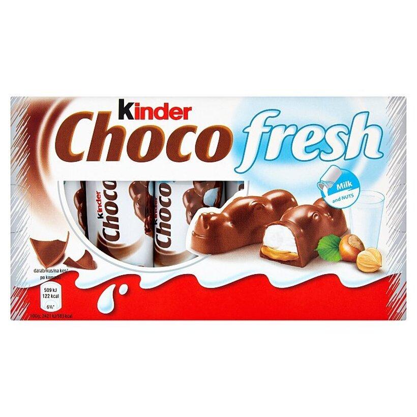 Kinder Choco fresh mliečna čokoláda s mliečnou a lieskovcovou náplňou 5 x 21 g