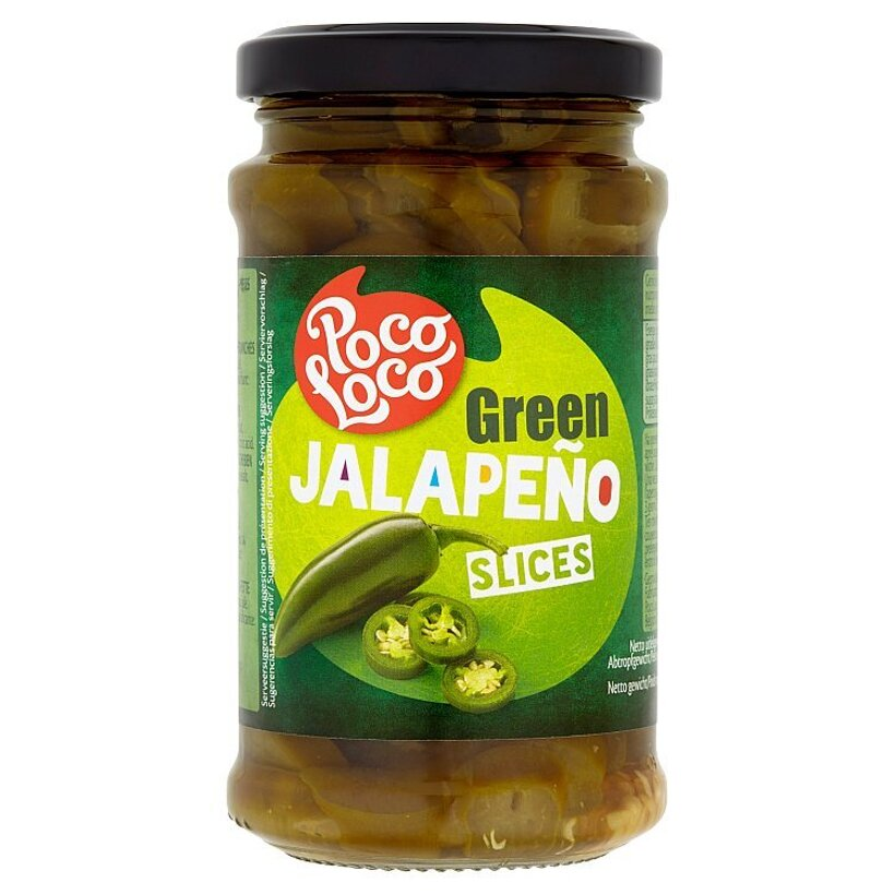 Poco Loco Zelené papričky Jalapeňo plátky 220 g