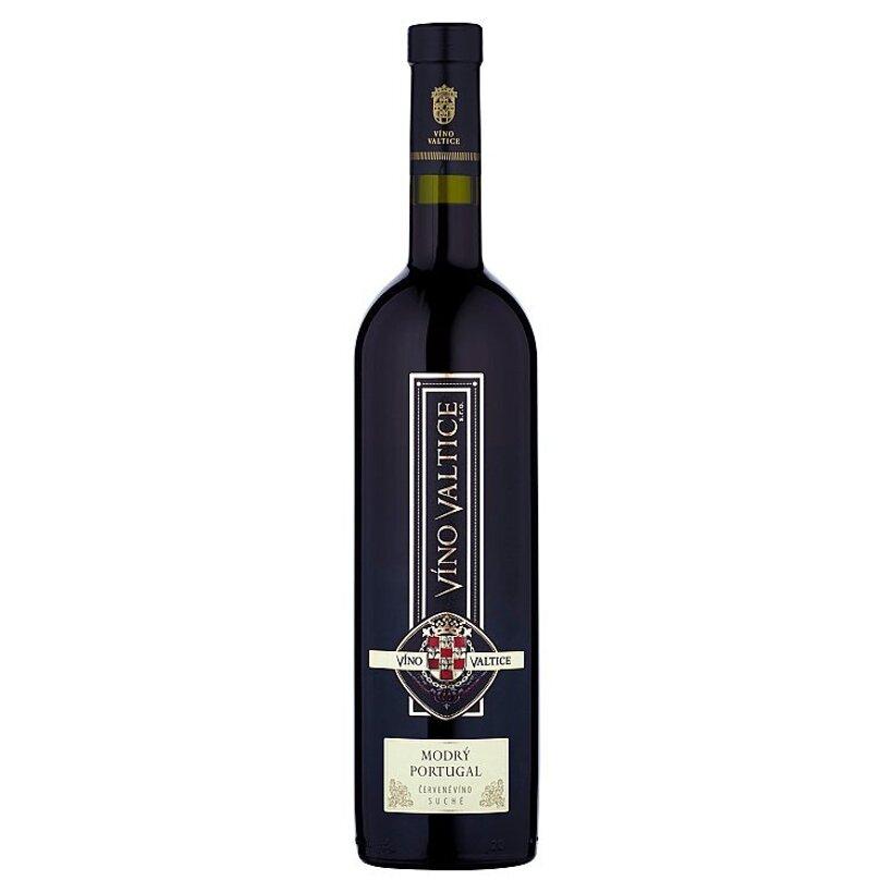 Víno Valtice Modrý Portugal víno červené suché 0,75 l