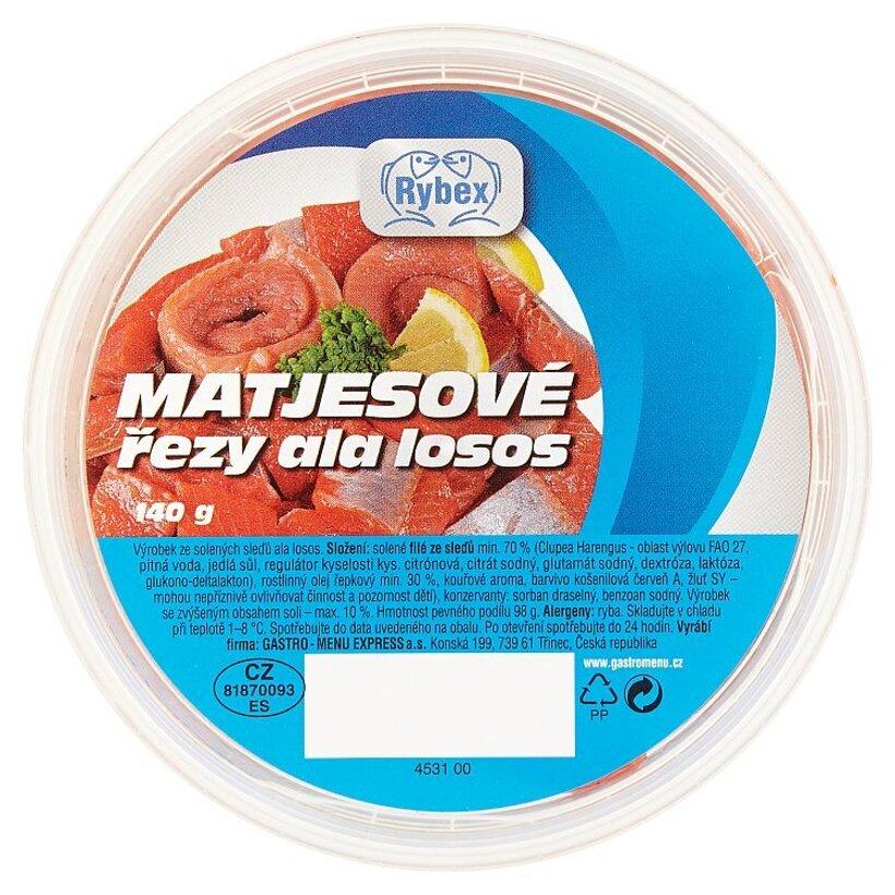Rybex Matjesové rezy- ala losos 140 g