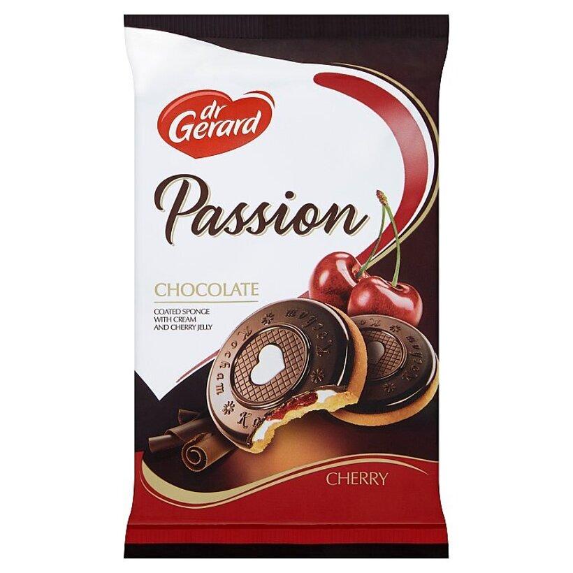 dr Gerard Passion piškóty s čokoládou, višňovým želé a smotanovým krémom 150 g