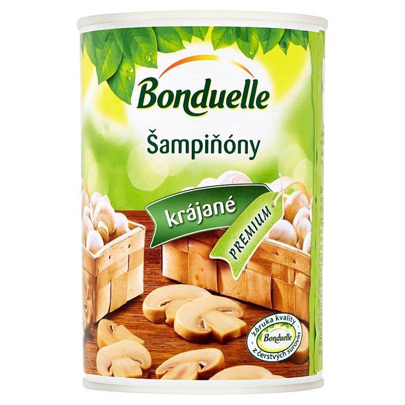Bonduelle Šampiňóny krájané v mierne slanom náleve 400 g