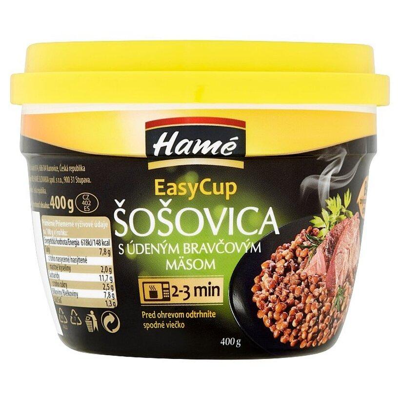 Hamé EasyCup Šošovica s údeným bravčovým mäsom 400 g