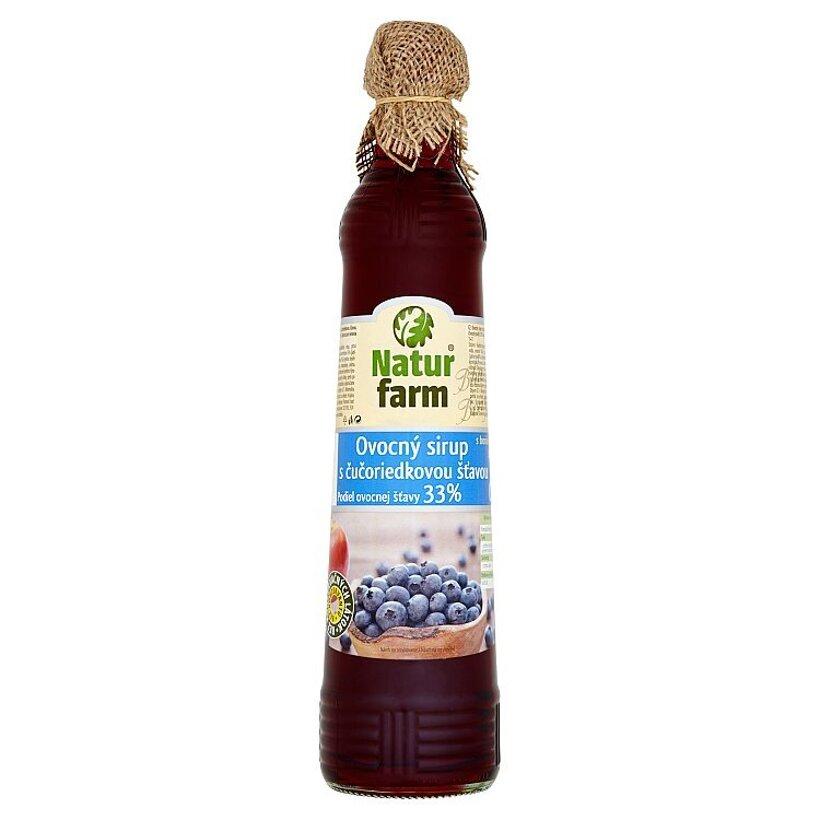 Natur Farm Ovocný sirup s čučoriedkovou šťavou 0,7 l