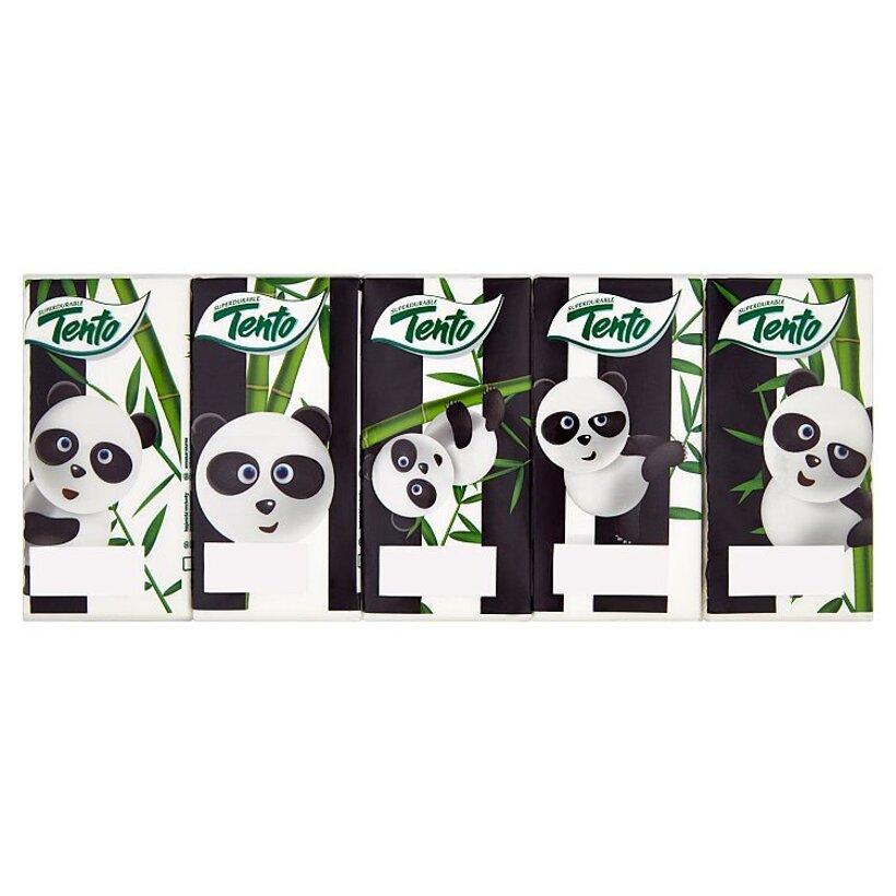 Tento Panda hygienické vreckovky 10 x 10 ks