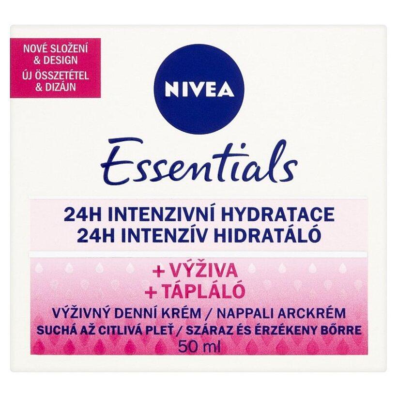 Nivea Essentials Výživný denný krém suchá až citlivá pleť 50 ml