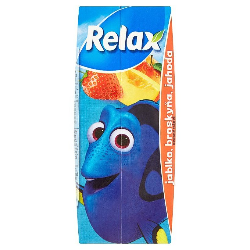 Relax Pixar jablko, broskyňa, jahoda 200 ml